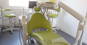 dentist surgery and chair